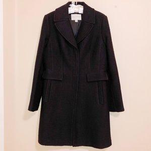 Banana Republic Black Wool Blend Dress Coat